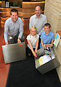 18/07/13 ***FREE PHOTO FR EDITORIAL USE***<br /> <br /> L/R: Charity Leads, Domonic Bradley and Anthony Mccool with Eden Wells (11), and Rhys Lewis (11).<br /> <br /> Pupils from Belmont Primary School seal a time capsule at Oakland Village extra care housing scheme in Swadlincote.<br /> The time capsule is in memory of Karen Jones, who died recently and led the development of Oakland Village.<br /> <br /> <br /> All Rights Reserved - F Stop Press.  www.fstoppress.com. Tel: +44 (0)1335 300098<br /> Copyrighted Image.