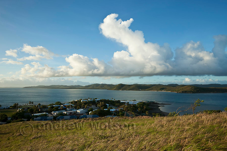 View of Thursday Island township from Green Hill Fort.  Thursday Island, Torres Strait Islands, Queensland, Australia