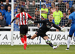 Hartlepool United 0 Sunderland 3, 20/07/2016. Victoria Park, Pre Season Friendly. Jermain Defoe of Sunderland scores his first goal. Photo by Paul Thompson.