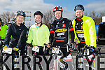 At the St Brendan's NS FENIT Coastal Cycle on Saturday were Fiona O'Connor, Caitriona O'Connor, Steve Deenihan, Paddy Griffin