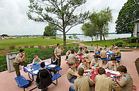Event photography of the 2014 Duke Energy Merit Badge Encampment, held at the Duke EnergyExplorium at the McGuire Nuclear Energy Station in Huntersville. The annual event gave Boy Scouts the opportunity to work on 21 merit badges, including First Aid, environmental sciences, chemistry and citizenship in the nation.