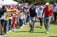 Phil Mickelson (USA) and Jon Rahm (ESP) make their way to the 8th tee during round 4 of the World Golf Championships, Mexico, Club De Golf Chapultepec, Mexico City, Mexico. 3/5/2017.<br /> Picture: Golffile | Ken Murray<br /> <br /> <br /> All photo usage must carry mandatory copyright credit (&copy; Golffile | Ken Murray)