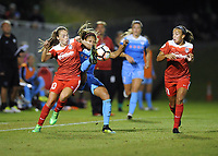Boyds, MD - Saturday August 26, 2017: Casey Short, Estefanía Banini during a regular season National Women's Soccer League (NWSL) match between the Washington Spirit and the Chicago Red Stars at Maureen Hendricks Field, Maryland SoccerPlex.