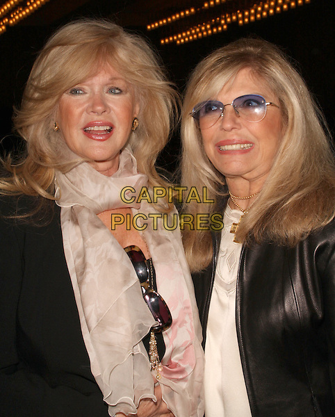 CONNIE STEVENS & NANCY SINATRA.Keeping The Promise to our Vietnam Veteran's Heroes held at The LAX Sharaton Hotel, Los Angeles, California, USA..November 7th, 2008.half length black white glasses tinted scarf sunglasses shades black .CAP/ADM/KB.©Kevan Brooks/AdMedia/Capital Pictures.
