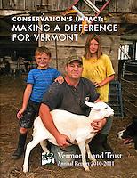 Vermont Land Trust cover, 2010-11