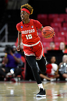 College Park, MD - March 23, 2019: Radford Highlanders guard Destinee Walker (10) brings the ball up court during first round action of game between Radford and Maryland at Xfinity Center in College Park, MD. Maryland defeated Radford 73-51. (Photo by Phil Peters/Media Images International)