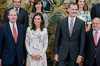 MADRID, SPAIN- July 08: King Felipe and Queen Letizia attend audiences at Zarzuela Palace in Madrid, Spain on July 08, 2019.  ***NO SPAIN***<br /> CAP/MPI/RJO<br /> ©RJO/MPI/Capital Pictures