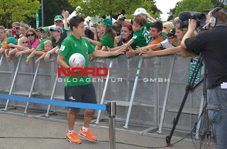 28.07.2013, Weserstadion, Bremen, GER, 1.FBL, Werder Bremen Tag der Fans 2013, im Bild Zlatko Junuzovic (Bremen #16)<br /> <br /> Foto &copy; nph / Frisch