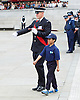 Celebration of record number of young volunteer Police cadets in London aged 10-19 at a ceremony in Trafalgar Square, London, Great Britain 3rd August 2015 <br />  <br /> The Mayor of London Boris Johnson and the Metropolitan Chief Police Commissioner Sir Bernard Hogan-Howe made speeches and met some of the volunteers. <br /> <br /> Mateo aged 10 from Kensington &amp; Chelsea <br /> <br /> Photograph by Elliott Franks <br /> Image licensed to Elliott Franks Photography Services