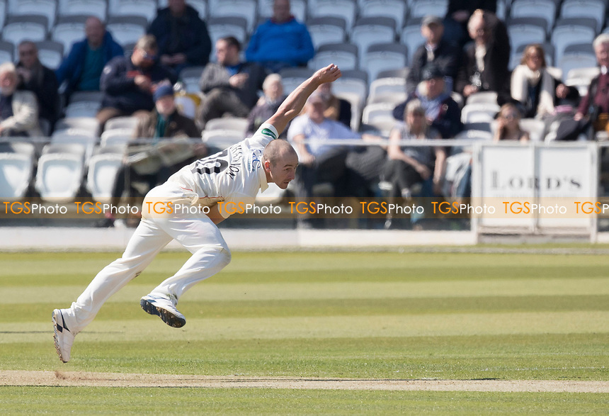 Josh Bohannon of Lancashire CCC in action during Middlesex CCC vs Lancashire CCC, Specsavers County Championship Division 2 Cricket at Lord's Cricket Ground on 11th April 2019