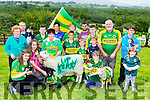 Bridget Richarson, Beaufort her family and her animals are showing their Kerry colours front row l-r: Kerry Richardson, Chloe Doona, Bridget Richardson, Williw Healy, eoin Doona, Holly richardson, Leanne doona. Back row: Sheila Doona, Patrick Doone, Jack Healy, Michelle doona, Mary Healy, Kieran Doona, Shane, Donal and Borka Doona