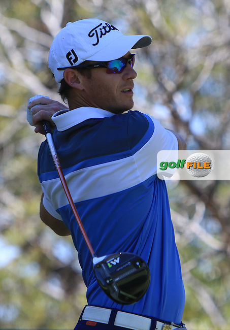 Brad Shilton (NZL) on the 15th tee during Round 2 of the ISPS Handa World Super 6 Perth on Friday 17th February 2017.<br /> Picture:  Thos Caffrey / Golffile<br /> <br /> All photo usage must carry mandatory copyright credit     (&copy; Golffile | Thos Caffrey)