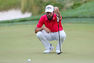 Bethesda, MD - July 2, 2017: Curtis Luck studies his putt during final round of professional play at the Quicken Loans National Tournament at TPC Potomac  in Bethesda, MD, July 2, 2017.  (Photo by Elliott Brown/Media Images International)