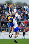 Aidan Moriarty of Clare  in action against Kevin Mahony of Waterford during their Munster  championship round robin game at Cusack Park Photograph by John Kelly.