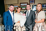 Baby Leighanne Rose Fitzmaurice  with her parents Marcella Stackpoole & Noel Fitzmaurice and god parents Shane Stackpoole & Carina Fitzmaurice who was christened in Ballydonoghue Church by Fr. Martin Hegarty on Sunday last  and afterwards at the Kingdom Bar, Listowel.