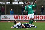 09.03.2019, Platz 11, Bremen, GER,RL Nord, Werder Bremen II vs VfB Oldenburg, im Bild<br /> Lennart MADROCH (VfB Oldenburg #30 )<br /> Manuel Mbom  (Werder Bremen II #34)<br /> <br /> Foto &copy; nordphoto / Rojahn