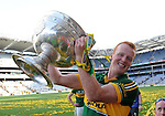 Johnny Buckley celebrate after winning the All-Ireland Football Final against Donegal in Croke Park 2014.<br /> Photo: Don MacMonagle<br /> <br /> <br /> Photo: Don MacMonagle <br /> e: info@macmonagle.com