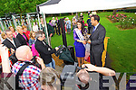 At the unveiling of the Rose monument in Tralee Town Park on Thursday were l-: Nicola McEvoy (2012 Rose of Tralee) and Minister Loe Varadkar