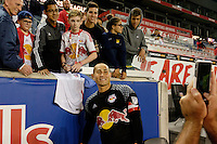Harrison, NJ - Thursday Sept. 15, 2016: Luis Robles after a CONCACAF Champions League match between the New York Red Bulls and Alianza FC at Red Bull Arena.