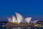 Sydney Opera House during blue hour, Sydney, NSW, Australia
