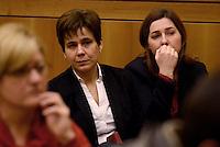 Roma, 27 Gennaio 2015.<br /> Eleonora Bechis e Gessica Rostellato.<br /> Conferenza stampa alla Camera dei Deputati dei 9 Parlamentari usciti dal Movimento 5 Stelle.