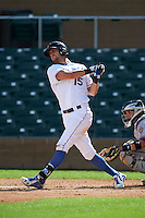 Surprise Saguaros outfielder Bubba Starling (15) at bat during an Arizona Fall League game against the Salt River Rafters on October 20, 2015 at Salt River Fields at Talking Stick in Scottsdale, Arizona.  Surprise defeated Salt River 3-1.  (Mike Janes/Four Seam Images)