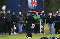 Paul Dunne (IRL) on the 2nd green during Round 4 of the Sky Sports British Masters at Walton Heath Golf Club in Tadworth, Surrey, England on Sunday 14th Oct 2018.<br /> Picture:  Thos Caffrey | Golffile<br /> <br /> All photo usage must carry mandatory copyright credit (&copy; Golffile | Thos Caffrey)