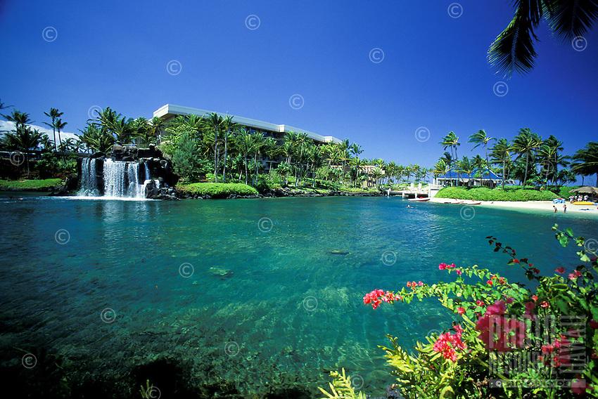 Pool at Hilton Waikaloa village resort on the Big Island of Hawaii