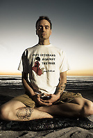 "Cameron White deployed to Iraq twice.  Before his first deployment he was in full support of the war.  When he got there though, he found himself securing oil fields, causing him to wonder what the real intention of the mission was.  After extensive research and re-education Cameron began working within the peace movement while still on active duty.  He was introduced to Buddhism by a fellow soldier in Iraq, and upon returning from his second tour he began studying with Claude Anshin Thomas, a Vietnam veteran turned Buddhist monk.  ""Buddhism is about understanding the self.  In the military the mentality that is encouraged is to do things without asking question and not look at the humanity involved and the consequences.  What drew me to Buddhism and opened my eyes within the practice was realizing that I have to pay attention to what I am doing each and every moment because there are consequences to all the choices we make.""  Cameron now works for Disabled American Veterans and sees his work as service to the world."