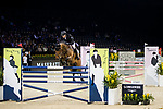Marc Houtzager of The Netherlands riding Sterrehof's Edinus competes in the Maserati Masters Power during the Longines Masters of Hong Kong at AsiaWorld-Expo on 10 February 2018, in Hong Kong, Hong Kong. Photo by Ian Walton / Power Sport Images