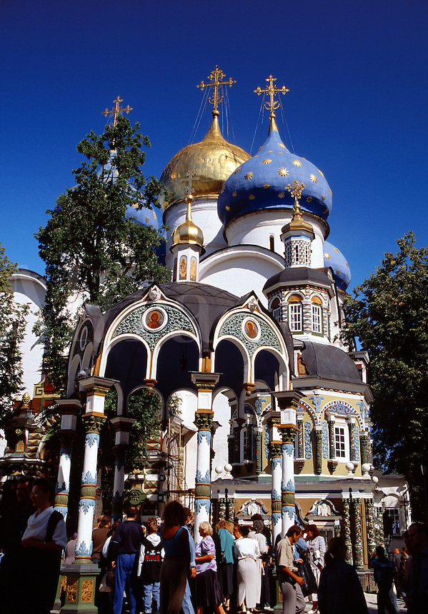 Cathedral of the Assumption Sergiev Posad Zagorsk Russia.