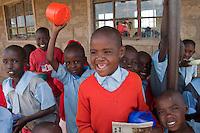 Masai school children during their lunch break
