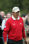 Padraig Harrington smiles after holing his putt on the 9th green during the final round of the Irish Open on 20th of May 2007 at the Adare Manor Hotel & Golf Resort, Co. Limerick, Ireland. (Photo by Eoin Clarke/NEWSFILE)..