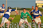 Mike Murphy of Lady's Walk taking the ball past St Brendan's Paul Sheehan and Denis Moriarty in the NK Intermediate Hurling Final at the Kilmoyley Hurling Club grounds on Monday night.   Copyright Kerry's Eye 2008