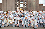 LONDON, UK - S'warm, National Youth Theatre Actors Launch Race to Save Honeybees, launch event at Battersea Power Station