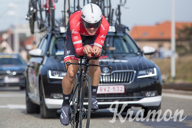 7th place GC: Edward Theuns (BEL/Trek-Segafredo)<br /> <br /> 3 Days of De Panne 2017<br /> afternoon stage 3b: ITT De Panne-De Panne (14,2km)