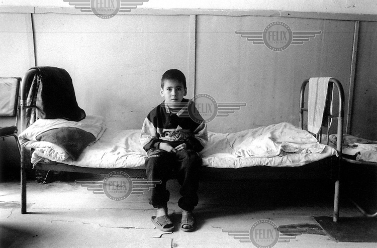 A young patient in the tuberculosis (TB) hospital in Nukus, the administrative centre of Karakalpakstan. The region has the highest levels of tuberculosis in the former Soviet Union.