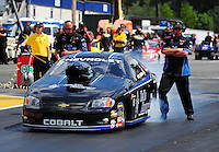 Aug. 7, 2011; Kent, WA, USA; NHRA pro stock driver Erica Enders during the Northwest Nationals at Pacific Raceways. Mandatory Credit: Mark J. Rebilas-