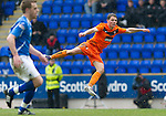 St Johnstone v Dundee Utd....21.04.12   SPL.John rankin scores to make ti 2-0.Picture by Graeme Hart..Copyright Perthshire Picture Agency.Tel: 01738 623350  Mobile: 07990 594431