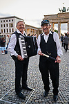 Germany, Berlin, 2017/09/06<br /> <br /> Holocaust Survivor Band music video recording at Brandenburg Gate BERLIN