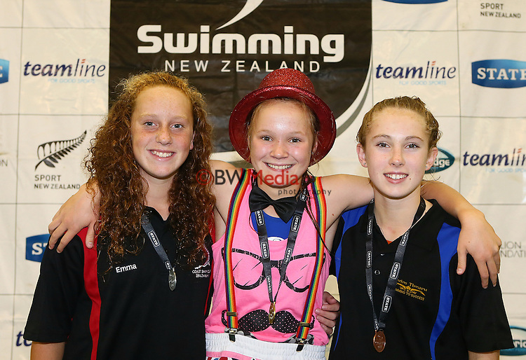 150314.  during Day Four, session eight of the State New Zealand Division II Swimming Champs, Waterworld, Te Rapa, Hamilton. Saturday 15 March 2014. Photo: Simon Watts/www.bwmedia.co.nz/Swimming New Zealand