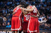 BROOKLYN, NY - Saturday December 19, 2015: The Ohio State Buckeyes huddle before going on to defeat Kentucky 74-67 in the CBS Classic at Barclays Center in Brooklyn, NY.