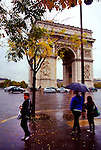 The Arc de Triomphe de l'Étoile is one of the most famous monuments in Paris. It stands in the centre of the Place Charles de Gaulle, at the western end of the Champs-Élysées.