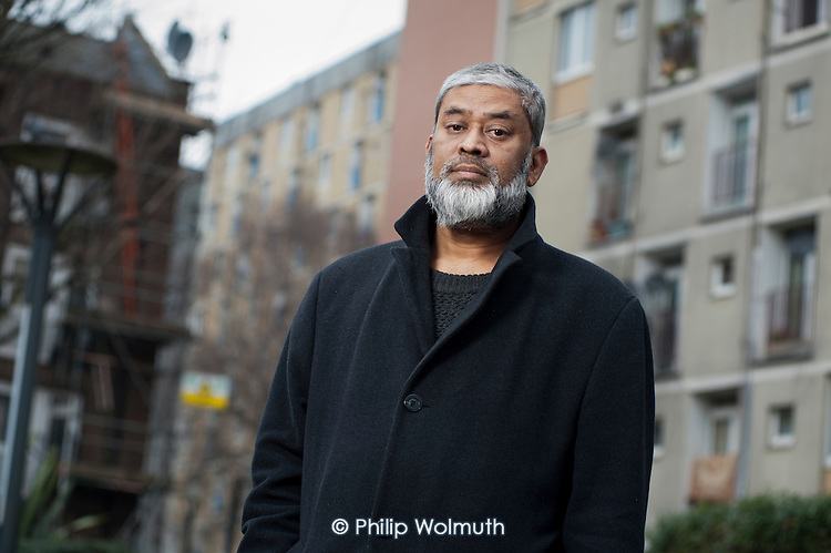 Mohammed Joynal-Uddin, resident of Regent's Park Estate and Chair of West Euston Partnership, and whose home is threatened with demolition under plans for the HS2 high speed railway line.