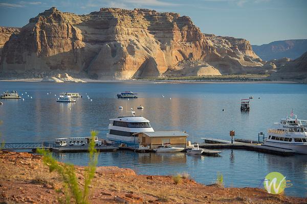Lake Powell reservoir and resort. Colorado River, Arizona