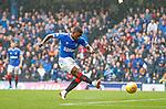 11.08.2019 Rangers v Hibs: Jermain Defoe scores the opening goal for Rangers