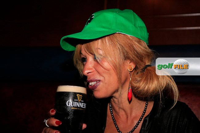 Nona Blue turns Emerald Green for the St Patricks Day celebrations ahead of the  Arnold Palmer Invitational, Lake Nona, Orlando, Florida,USA.<br /> Picture: Fran Caffrey www.golffile.ie