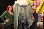 The Quadrangle Club Revels rehearsed Sunday evening for their upcoming performance of Sweet Dreams which will be held at the Quadrangle Club, 1155 E. 57th Street on Friday, January 31st at 8:00 p.m.<br /> <br /> Director, Laura Nash, Bill Schmidt (in costume as the Jelly Fish) and writer and co-producer Andy Austin.