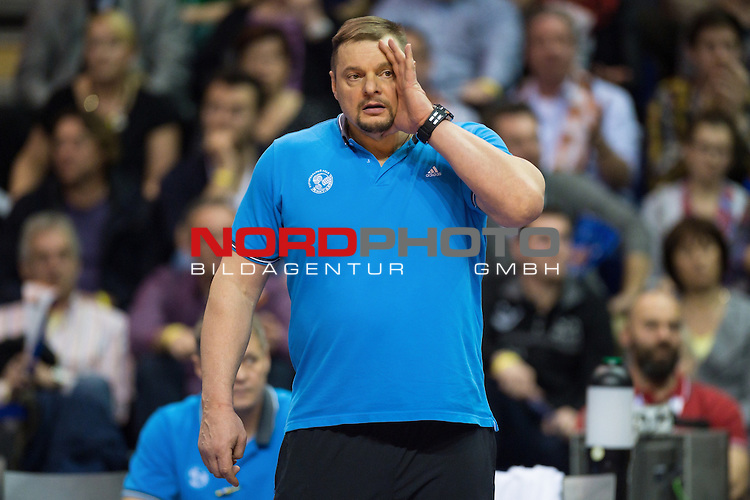 28.03.2015, Max Schmeling Halle, Berlin<br /> Volleyball, 2015 CEV Volleyball Champions League, Final Four, Halbfinale, BR Volleys (GER) vs. Zenit Kazan (RUS)<br /> <br /> Vladimir Alekno (Trainer / Coach Kazan RUS)<br /> <br />   Foto &copy; nordphoto / Kurth