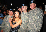 HOLLYWOOD, CA. - April 27: Eva Longoria Parker and U.S. Soldiers arrive at her Fragrance Launch Event at Beso on April 27, 2010 in Hollywood, California.